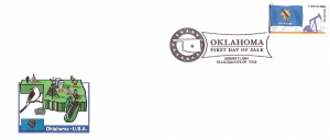 First Day of Sale Cover - Oklahoma Flag Coil Stamp