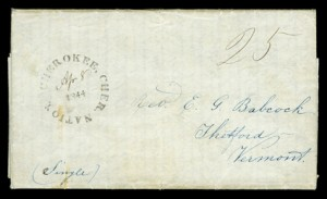 1844 Cherokee Nation Cover - with Rimless CDS